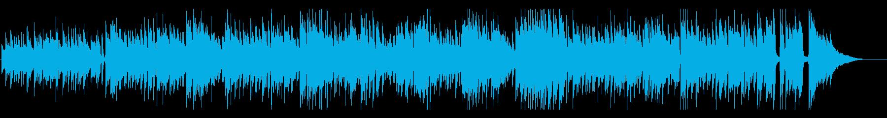 生録音アコギの軽快なボサノヴァの再生済みの波形