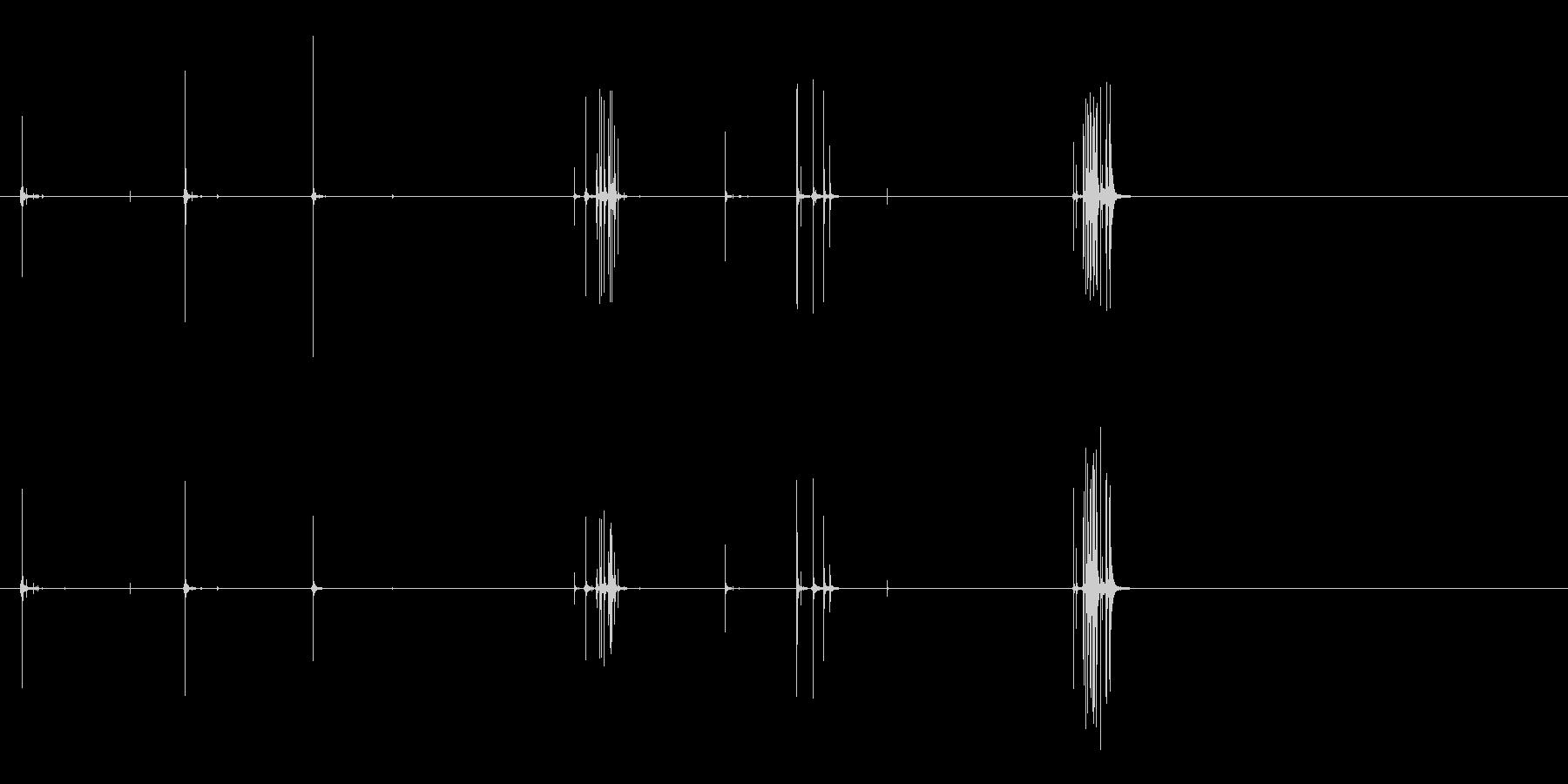 ベルクロストラップ:分離するクリークの未再生の波形