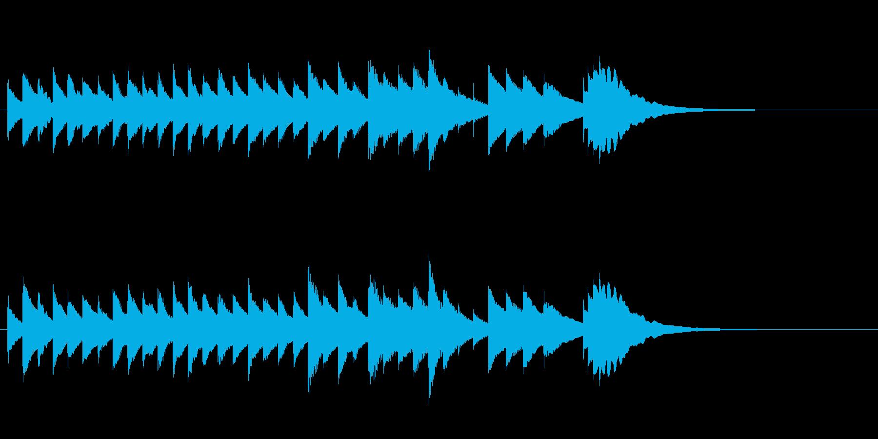 切ない系・きらきら・オルゴールジングルの再生済みの波形