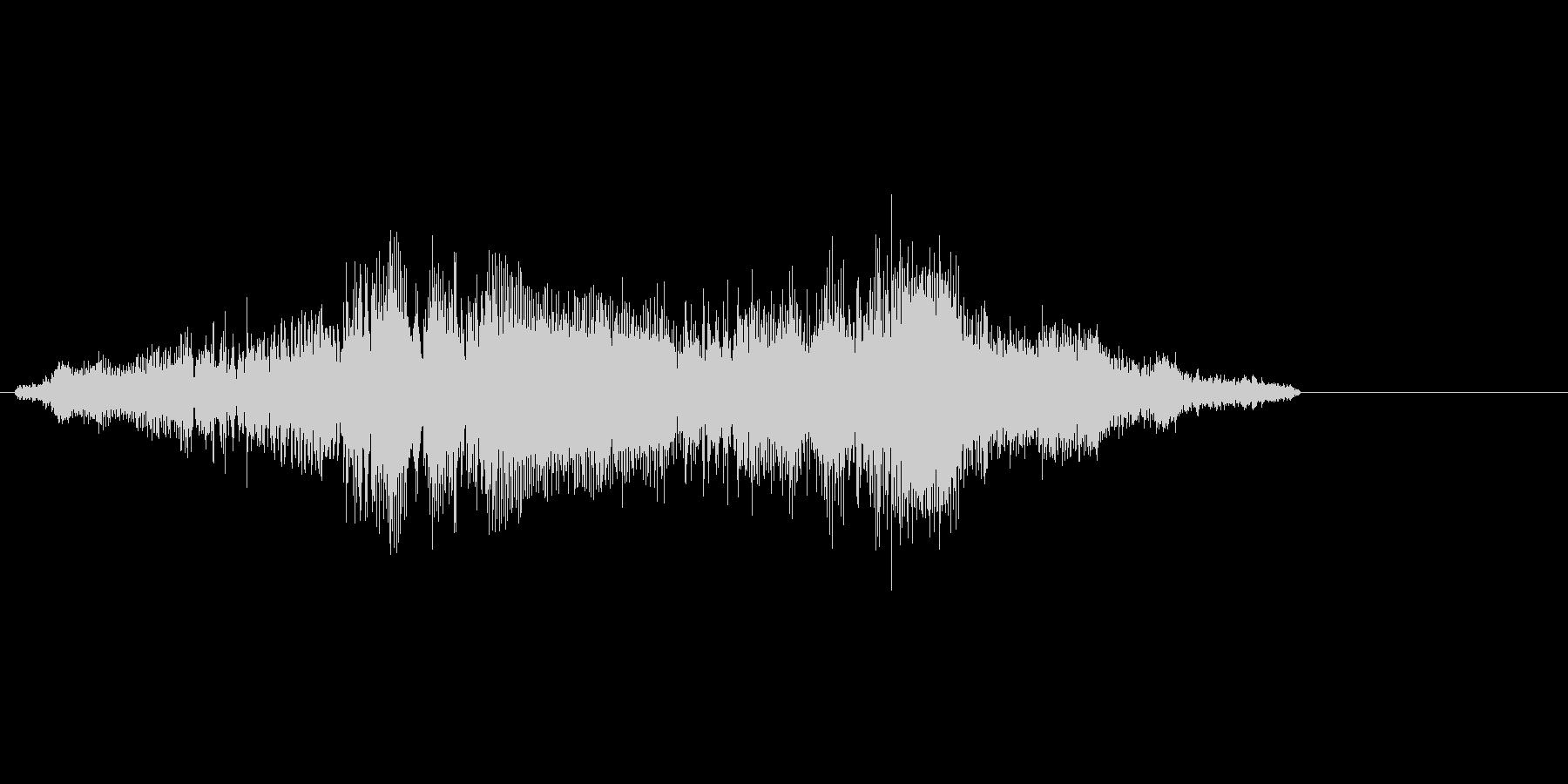 ゾンビ意識した声系効果音ですの未再生の波形