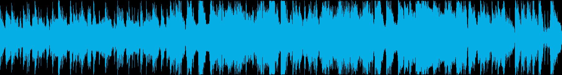 忙しいベースラインのファンクサウンドの再生済みの波形