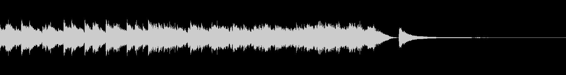 30秒企業PV爽やか生き生きとしたピアノの未再生の波形