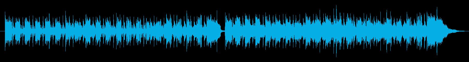 ふわふわ感がある軽快でコミカルな曲の再生済みの波形