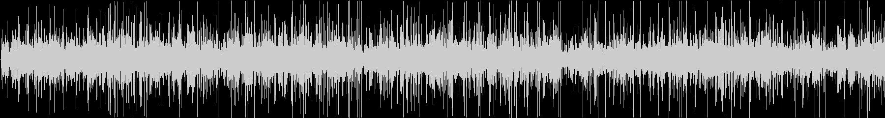 ジュー、ピチピチ(油で揚げる音)の未再生の波形