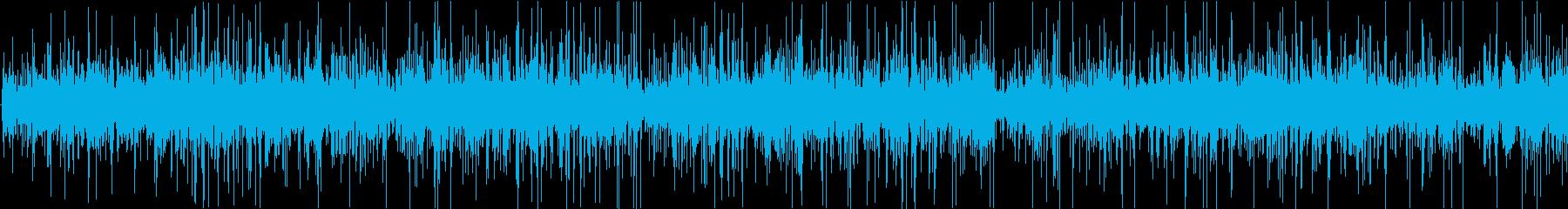 ジュー、ピチピチ(油で揚げる音)の再生済みの波形