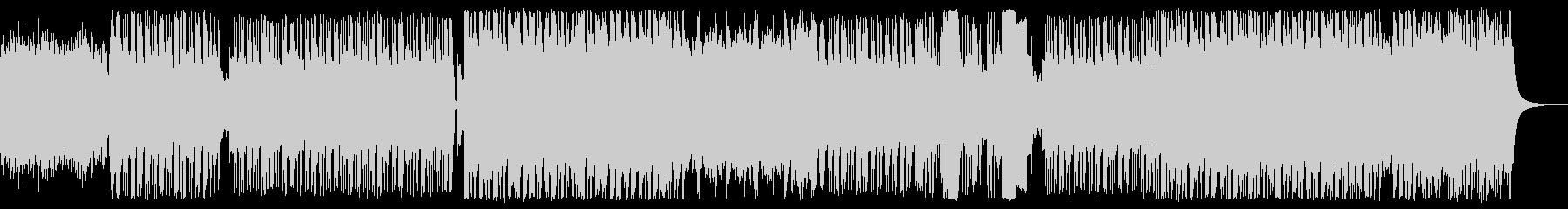 ロックっぽいギター/ベースのリフ曲の未再生の波形