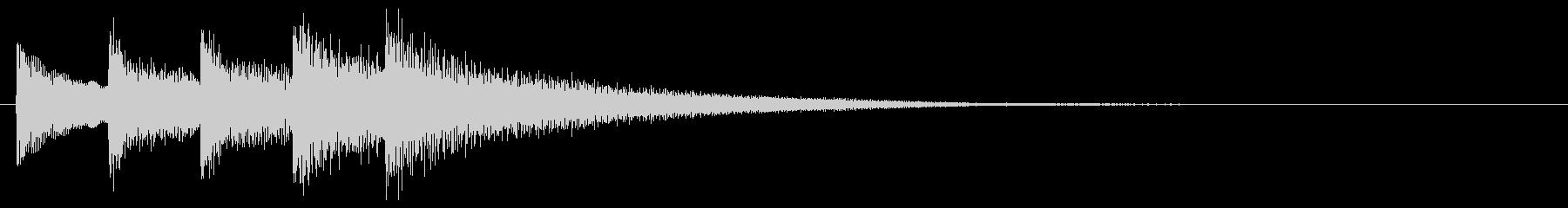和風効果音 琴 短めなフレーズ E2の未再生の波形