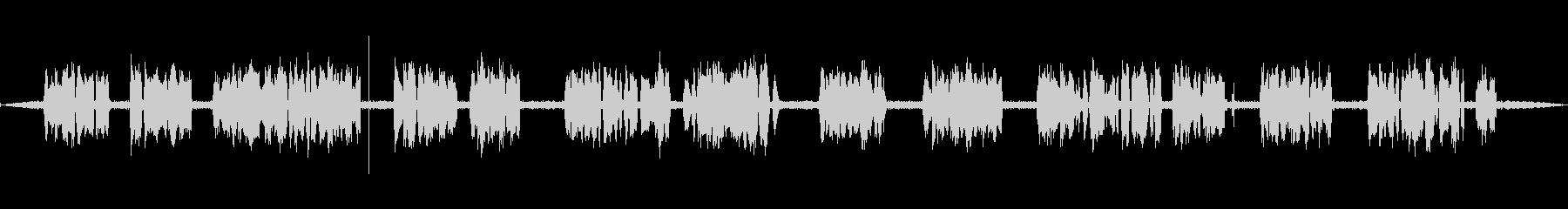 コミュニケーターの未再生の波形
