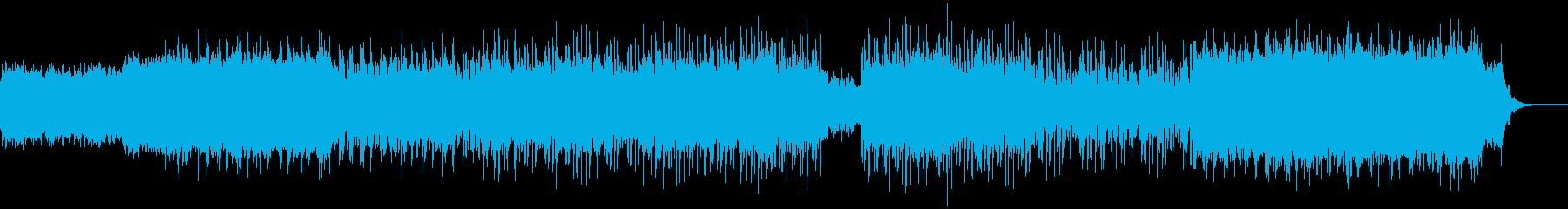 キラキラ 儚い 速い アンビエントテクノの再生済みの波形