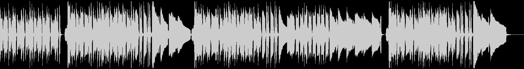 ピアノとハーモニカによるほのぼの曲の未再生の波形