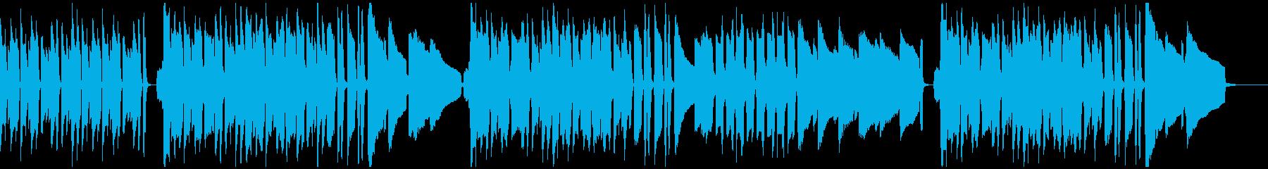 ピアノとハーモニカによるほのぼの曲の再生済みの波形