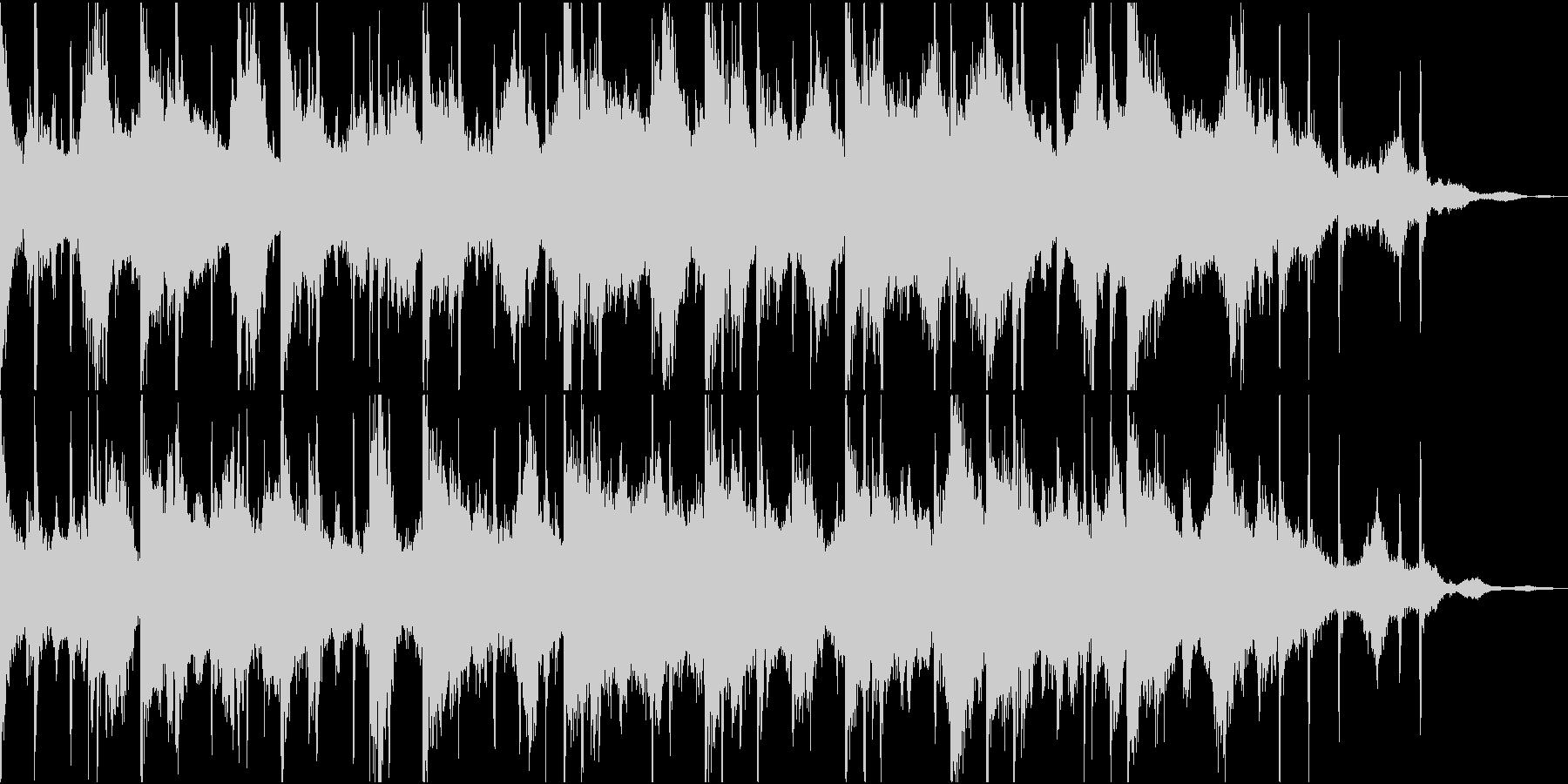 幻想的で物悲しいピアノとシンセのBGMの未再生の波形