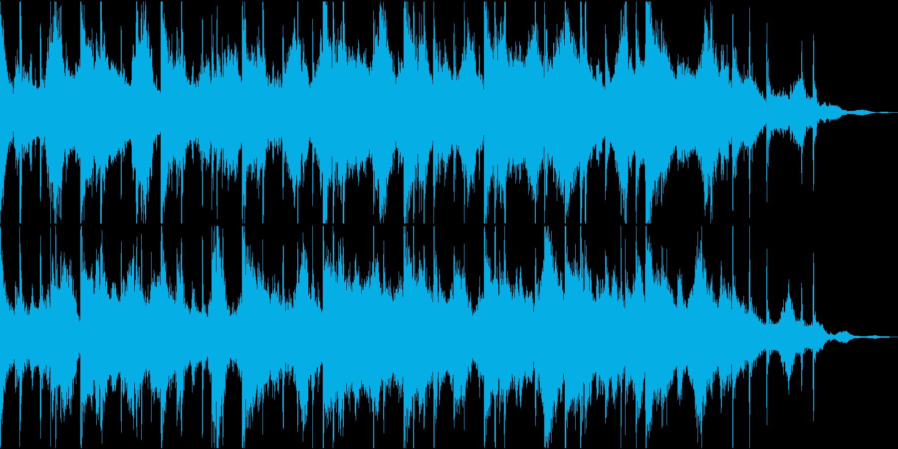 幻想的で物悲しいピアノとシンセのBGMの再生済みの波形