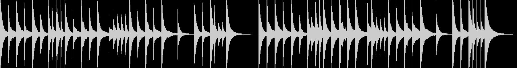 悲しい幻想的オルゴール ゲームオーバーの未再生の波形