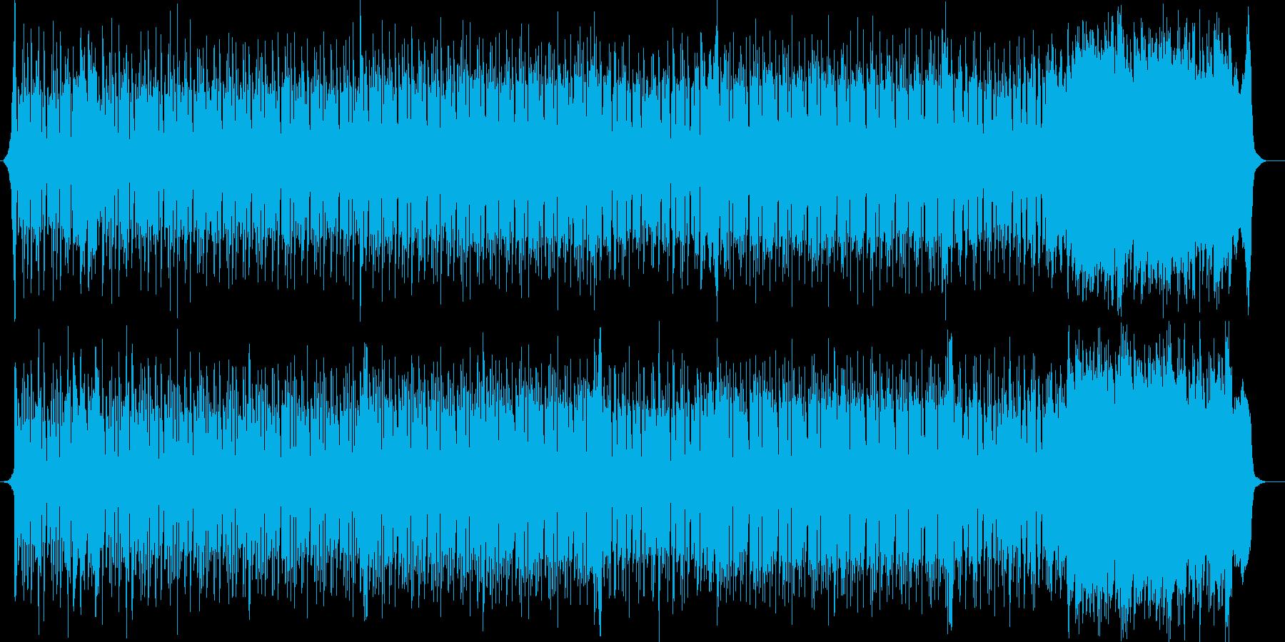 ミステリアスなテクノポップスの再生済みの波形