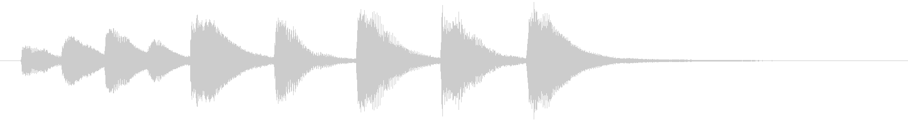 シンプルで可愛いジングル/ピアノ/鉄琴の未再生の波形