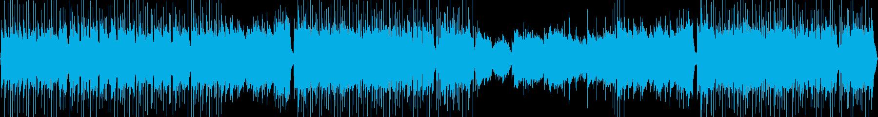 和風でロックテイストの登場、紹介BGMの再生済みの波形