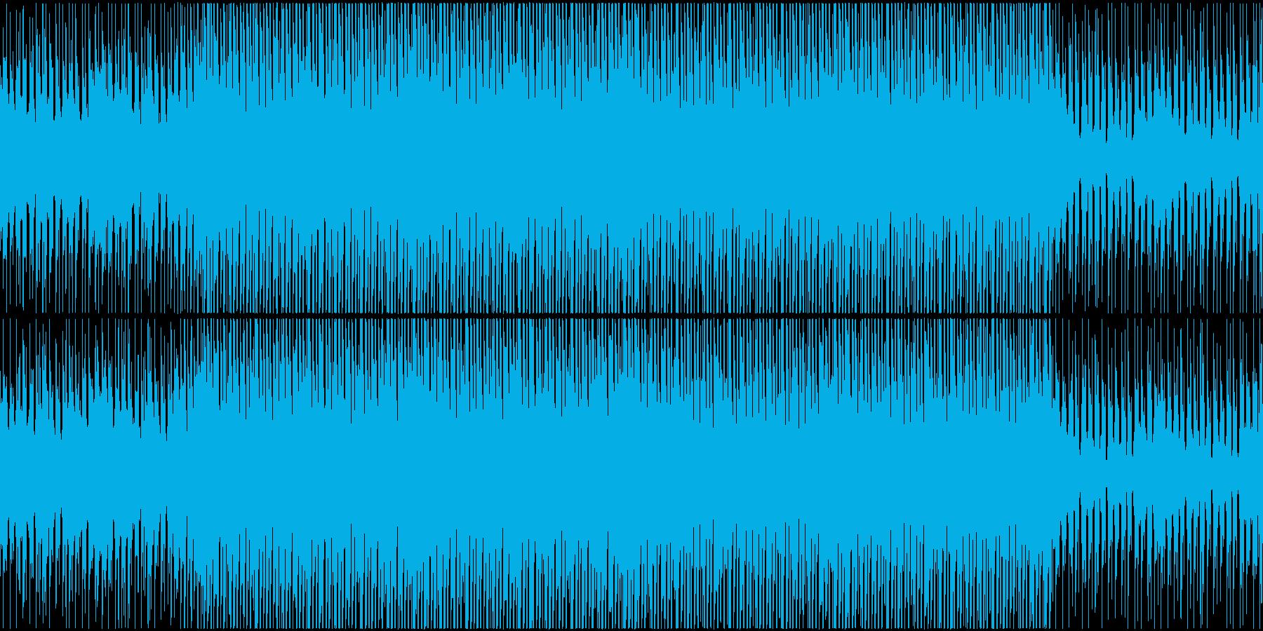 疾走感のあるシリアスなハウスループの再生済みの波形