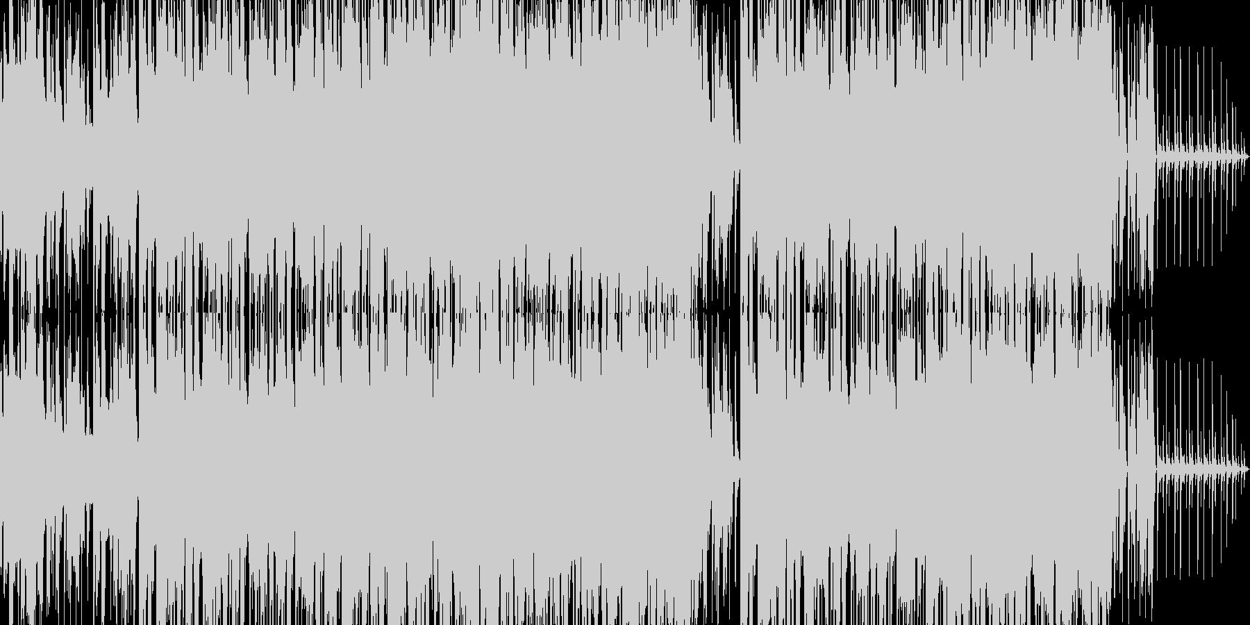 ハイテンションのアクション向きロックの未再生の波形