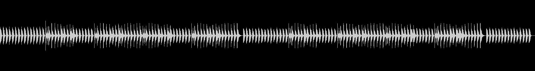気の抜けたピアノのジングル2(ループ)の未再生の波形