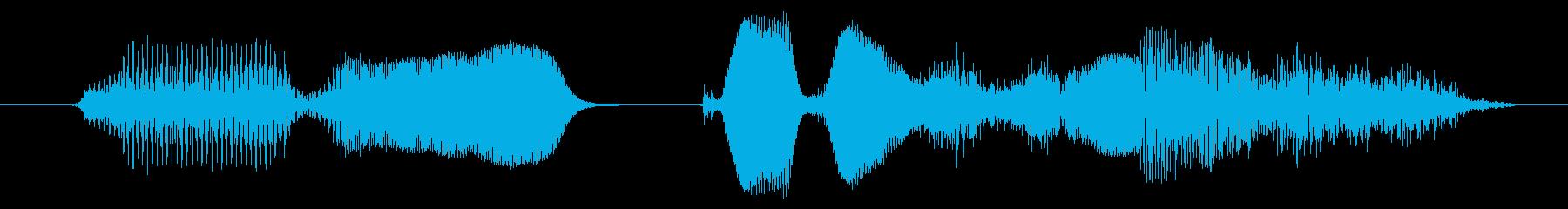メリークリスマスの再生済みの波形