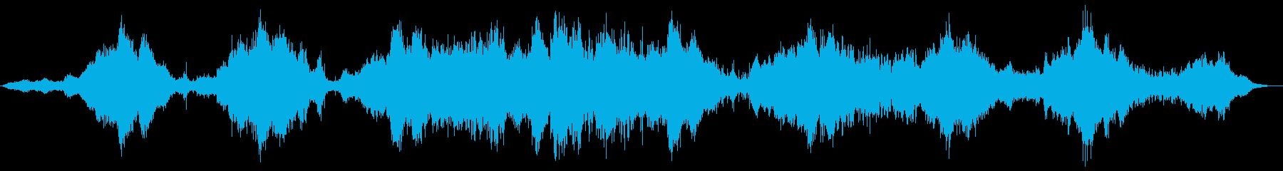 暗いホラーテクスチャーなドローンの再生済みの波形