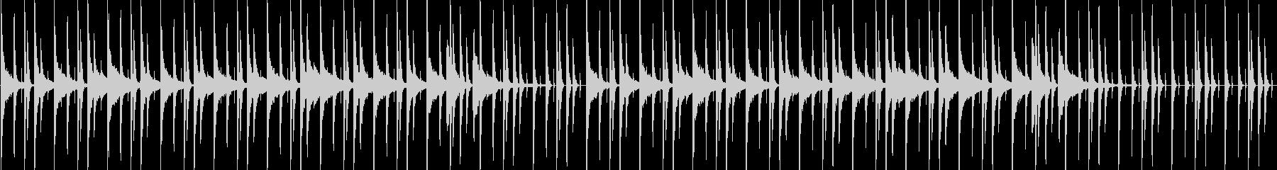 夜中の都会なピアノLo-Fiの未再生の波形