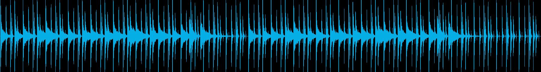 夜中の都会なピアノLo-Fiの再生済みの波形