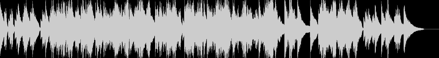 ポップバラード風のピアノインスト曲の未再生の波形