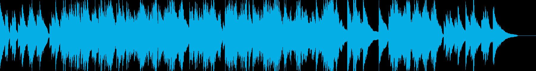 ポップバラード風のピアノインスト曲の再生済みの波形