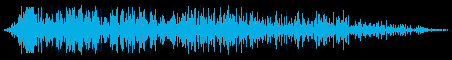 激しい炎(長め)の再生済みの波形