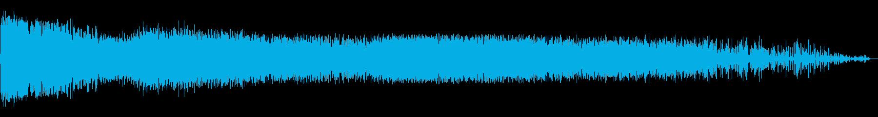 大規模な連続スネアリングブラスト、...の再生済みの波形