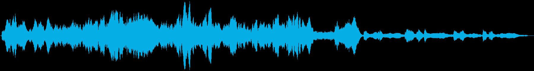 ドラマチックな劇伴音楽の再生済みの波形