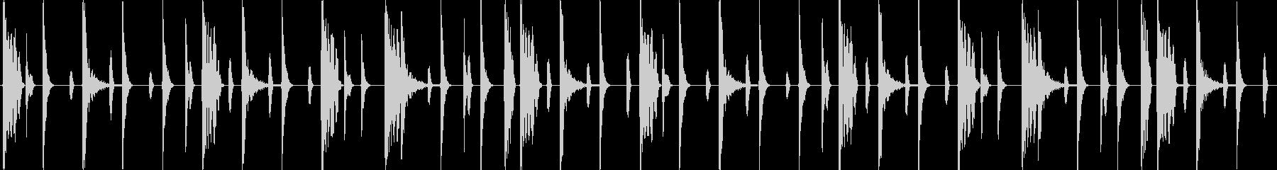 HIPHOP 4小節リズムループの未再生の波形