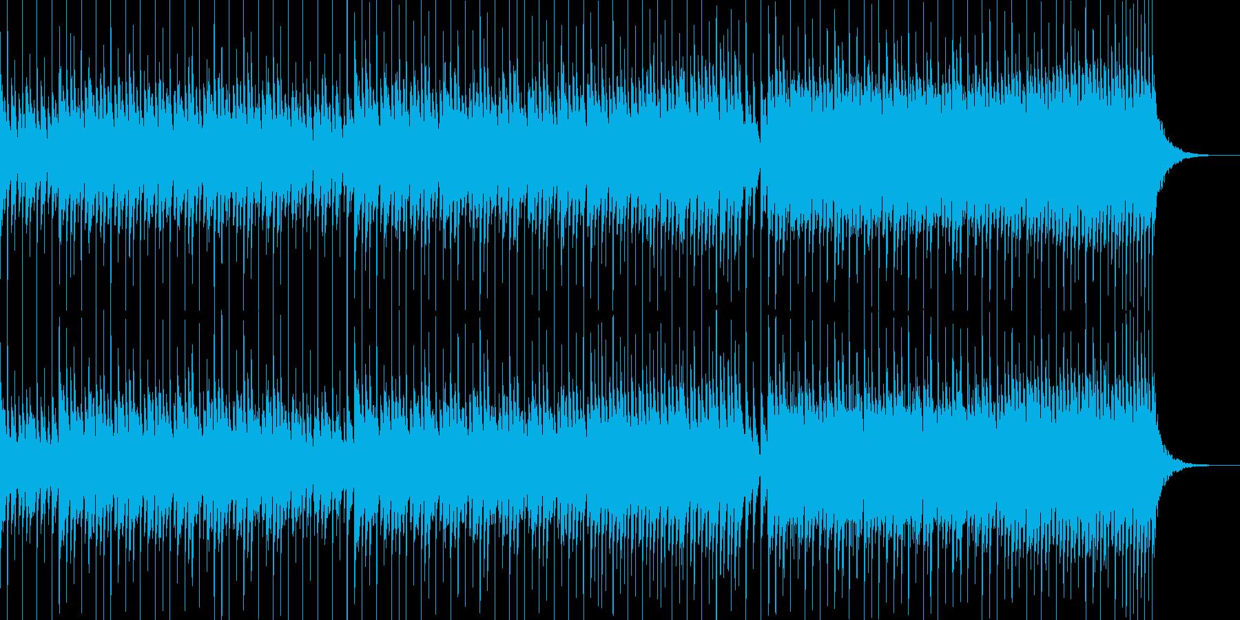 慌ただしい日常をイメージさせるBGMの再生済みの波形