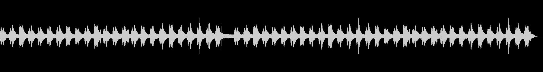 水のせせらぎ、鳥のさえずりで安らぐ音楽の未再生の波形