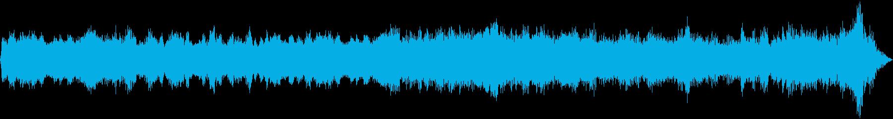 宇宙空間を漂う浮遊感のあるテクノポップの再生済みの波形