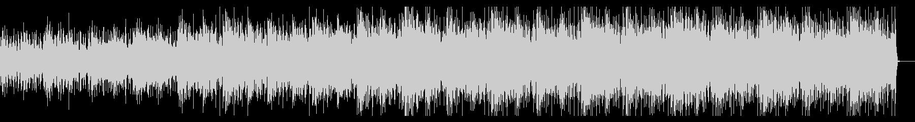サスペンシブでシンセティックなBGMの未再生の波形