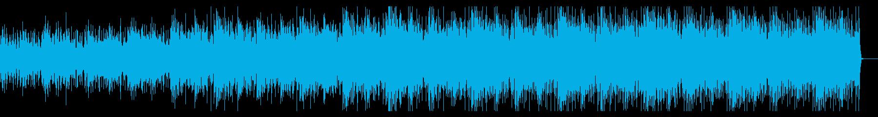 サスペンシブでシンセティックなBGMの再生済みの波形
