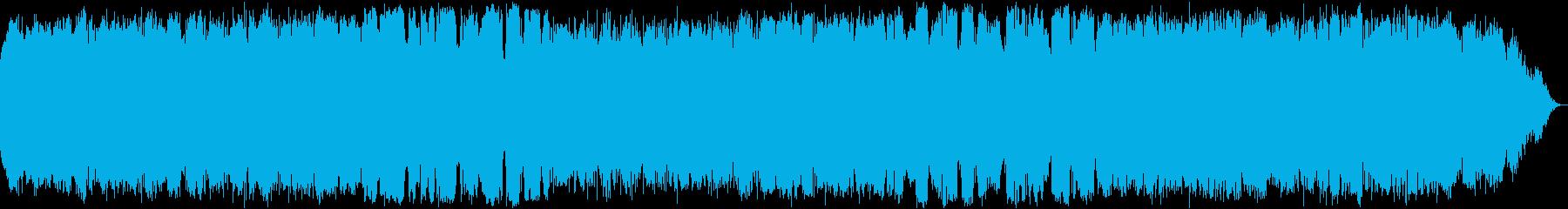 自然の音色のヒーリング音楽の再生済みの波形