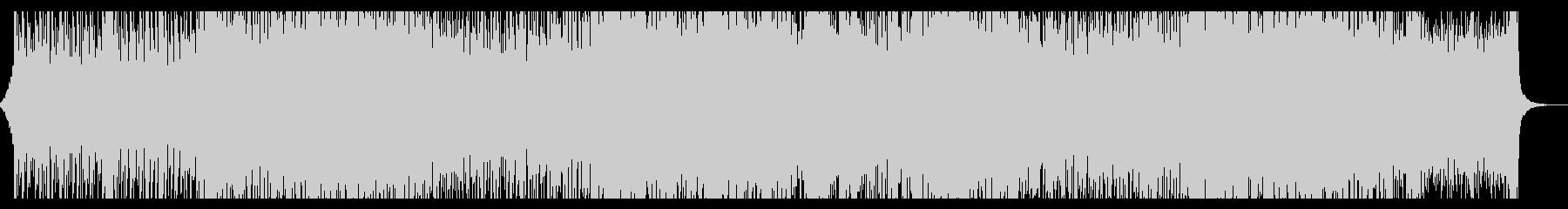 疾走感のあるドラムンベース風日本語ラップの未再生の波形