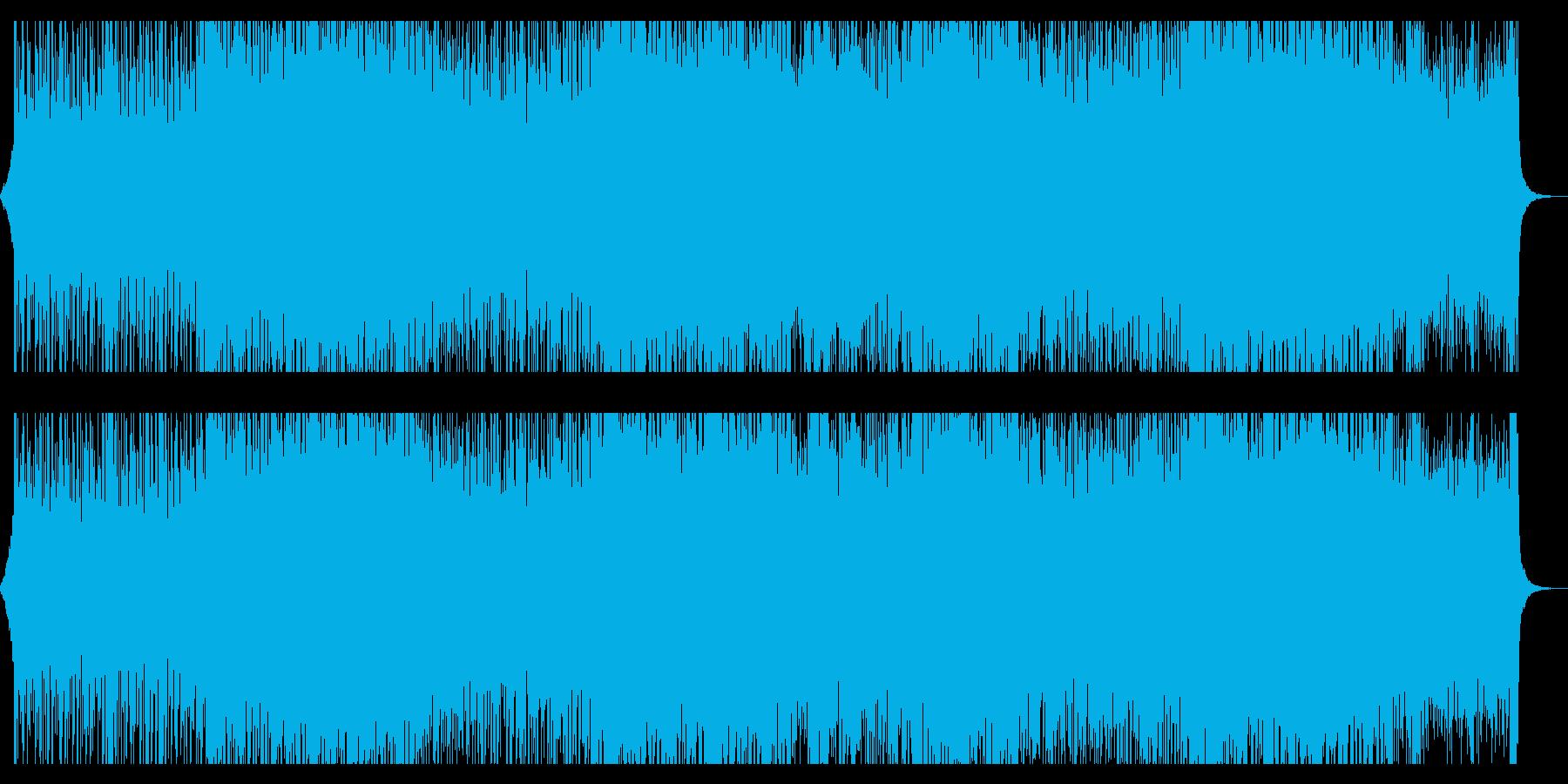 疾走感のあるドラムンベース風日本語ラップの再生済みの波形