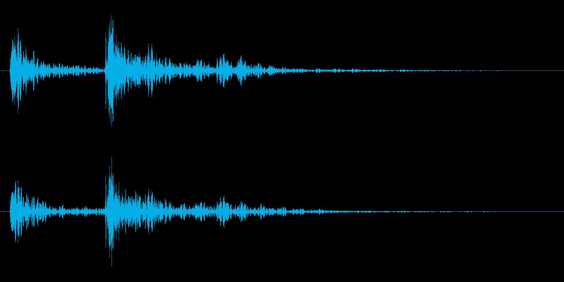 ガタンッ!「ドアを閉める音」の再生済みの波形