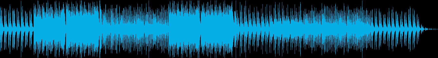 ほのぼの、のんびりした凡庸なポップス曲の再生済みの波形
