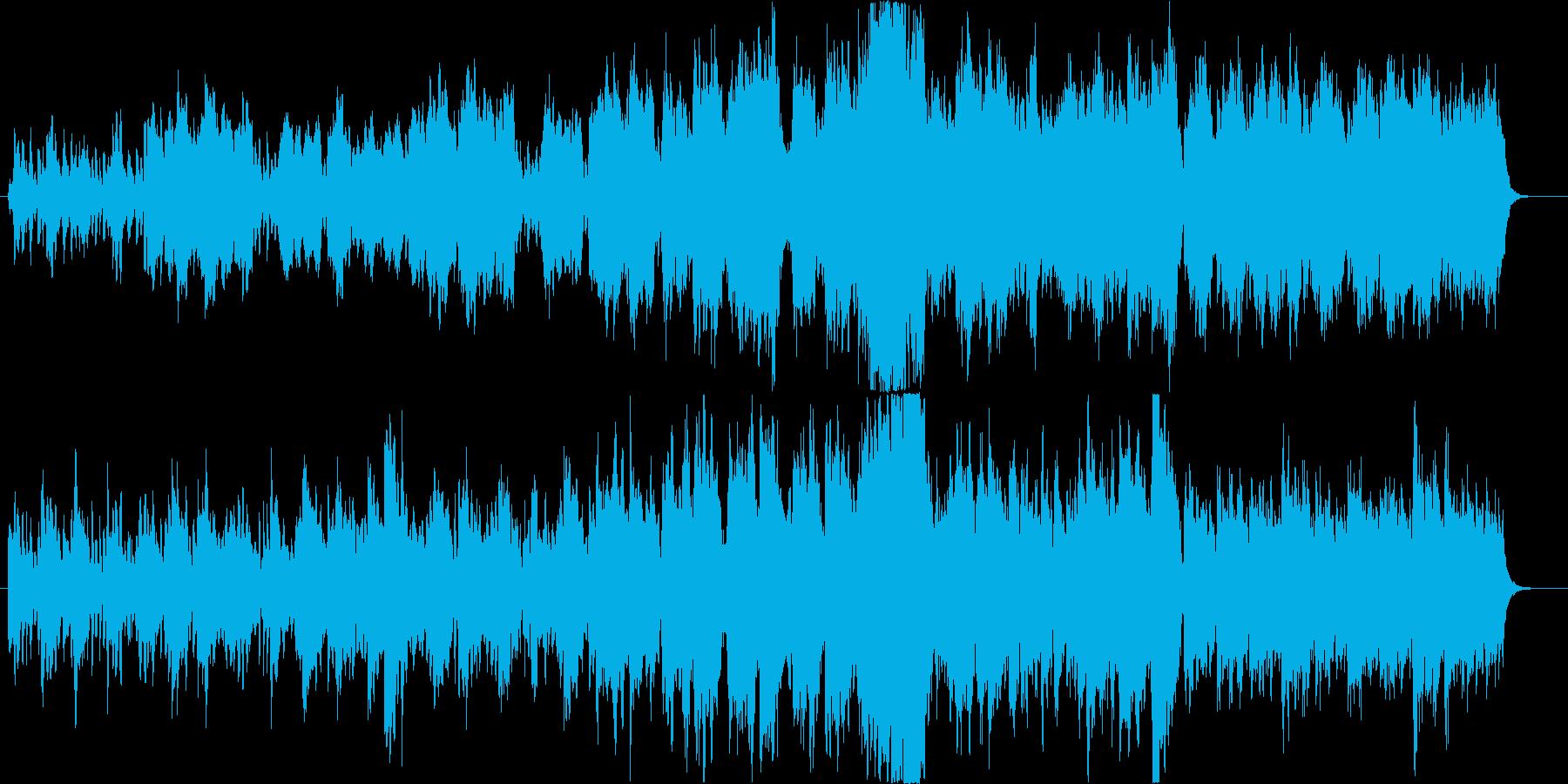 ストリングスと木管の爽やかなBGMの再生済みの波形