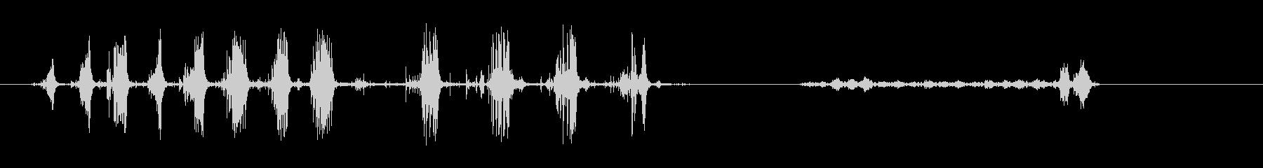 タマネギのカット-パンのカット-キッチンの未再生の波形