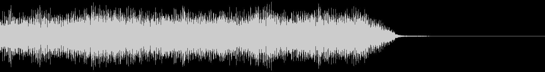 神秘的で不思議で入り組んだ音 12秒の未再生の波形