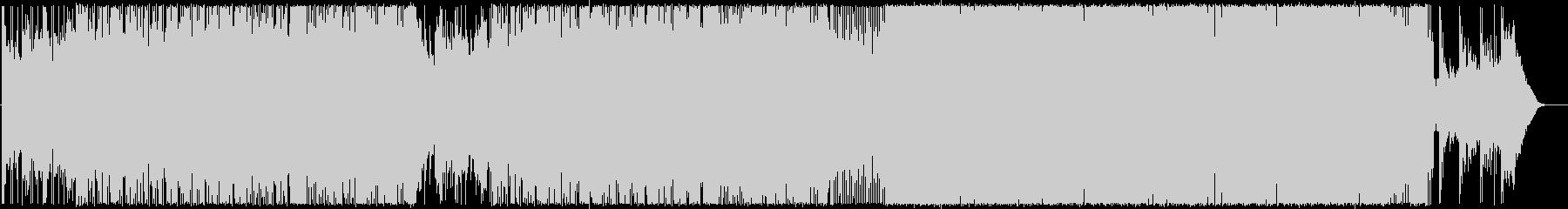 暗めの曲調から疾走感へ変化するロックの未再生の波形