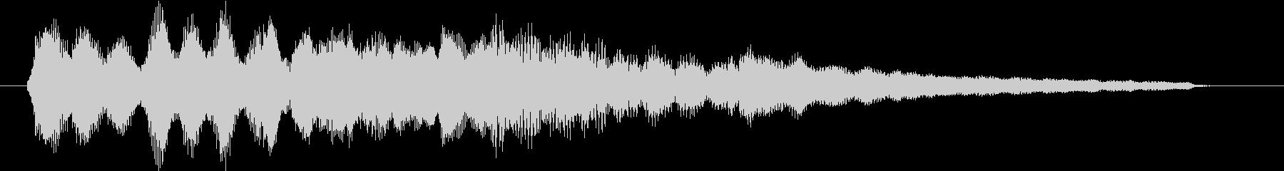 ジングル(ポップ2)の未再生の波形
