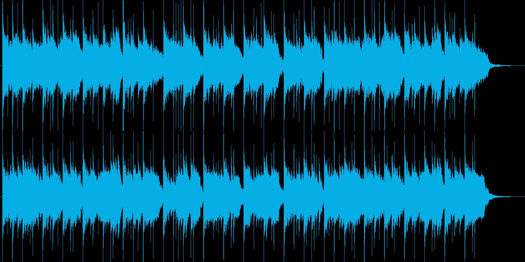 琴、尺八、三味線、明るく穏やかな和風曲の再生済みの波形